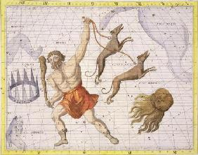 Constellation of Bootes, plate 20 from 'Atlas Coelestis', by John Flamsteed (1646-1710), published i