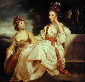 Mrs Thrale and her Daughter Hester (Queeney)