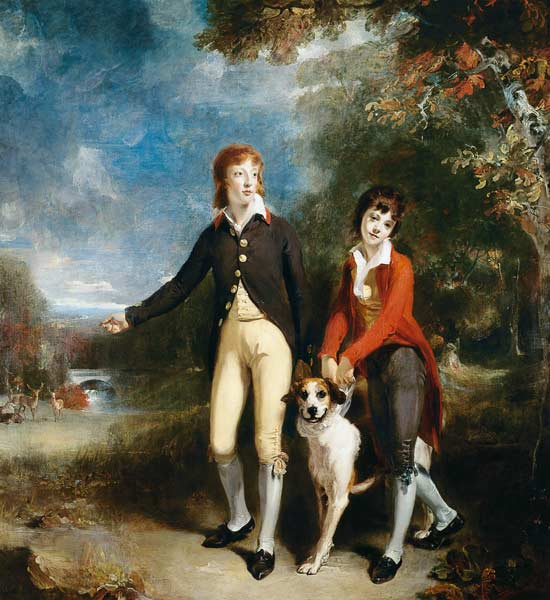 Sir Thomas Lawrence - Portrait of Charles Chetwynd-Talbot, Viscount Ingestre and His Brother