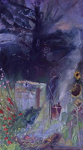 Allotment, 2000 (oil on canvas)