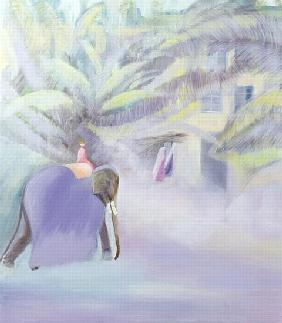 Elephant, Goa, India, 1997 (oil on canvas)