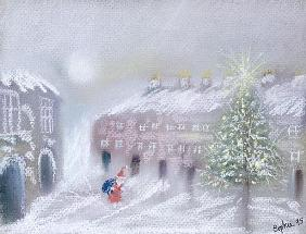 Father Christmas, 1995 (pastel on paper)
