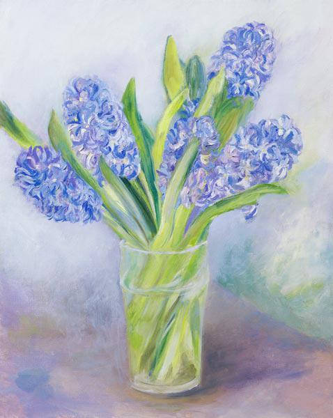 Hyacinths (oil on canvas)