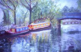 Little Venice, Regent''s Canal, 1996 (oil on canvas)