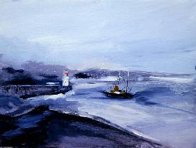 Newlyn, Cornwall, 2005 (acrylic on board)