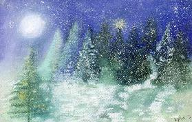 Silent Night, 1995 (pastel on paper)