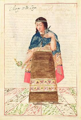 Illustration from ''Historia y Genealogia Real de los Reyes Incas del Peru, de sus hechos, costumbre