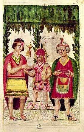 Illustration of Cincheroca, from ''Historia y Genealogia Real de los Reyes Incas del Peru, de sus he