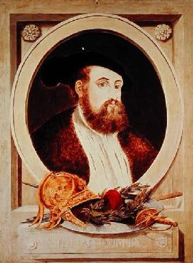Portrait of Hernan Cortes (1485-1547)