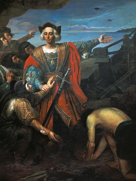 Arrival of Cristobal Colon in America