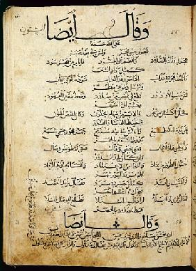 Ms.B86 fol.55b Poem Ibn Quzman (copy of a 12th century original)