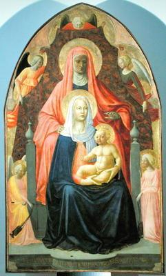 Madonna and Child with St. Anne, 1424-5 (tempera on panel)