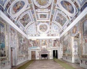 View of the 'Sala dei Fasti Farnese' (Hall of the Splendors of the Farnese) devised by Onofrio Panvi
