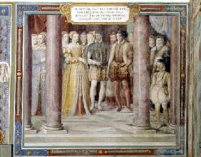 The Marriage of Orazio Farnese and Diana daughter of Henri II of France (1519-59) from the 'Sala dei