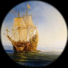 Spanish Galleon taken by the Pirate Pierre le Grand near the coast of Hispaniola, in 1643