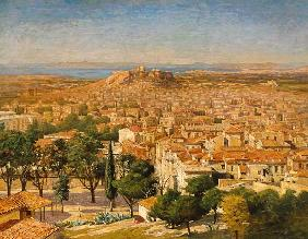 An Extensive View Of Athens With The Acropolis