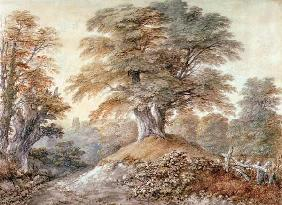 Th.Gainsborough, Study of Beech Trees...