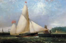 The 12th Duke of Norfolk's Yacht 'Arundel' (oil on canvas)