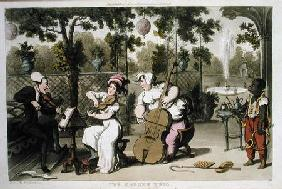 The Garden Trio, from 'The Tour of Dr Syntax in search of the Picturesque', by William Combe