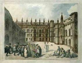 Quadrangle of King's College, Cambridge  & w/c on