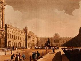 Somerset House, the Strand from Ackermann's 'Microcosm of London' Vol III