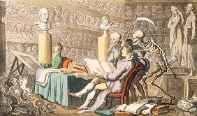 "Rowlandson, Thomas : ""Time and Death their Thou..."