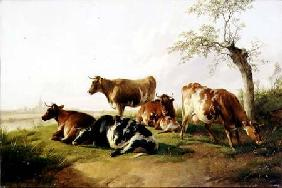 Cooper Thomas Sidney - Cattle in a Landscape