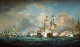 Thomas Whitcombe - The naval battle of Trafalgar on October 21st, 180