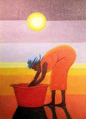 The Red Bucket, 2002 (oil on canvas)