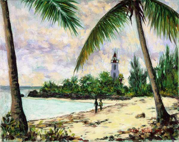 The Lighthouse, Zanzibar, 1995 (oil on canvas)