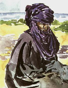 Tuareg Tribesman, 1991 (w/c on paper)