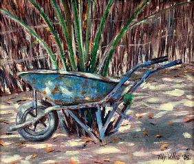 Wheelbarrow, 2005 (oil on canvas)