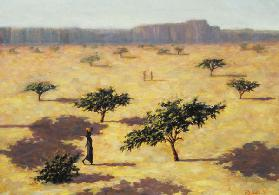 Sahelian Landscape, Mali, 1991 (oil on canvas)