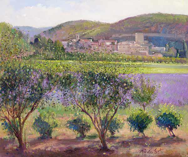 Lavender Seen Through Quince Trees, Monclus (oil on canvas)