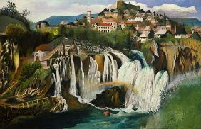 The waterfall of Jajce