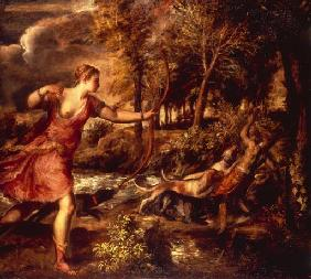 Vecellio, Tiziano : The Death of Actaeon