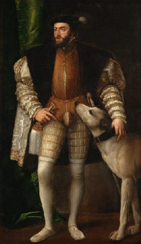 Emperor Karl V. with dog.