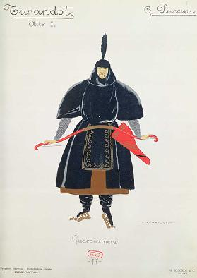 Costume design for the Black Guards from Turandot by Giacomo Puccini, 1924