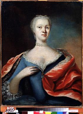Portrait of Princess Charlotte Christine of Brunswick-Wolfenbüttel, wife of Tsarevich Alexei of Russ