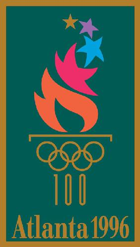Official poster for the 1996 Summer Olympics in Atlanta