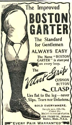 Advertisement for the Improved Boston Garter