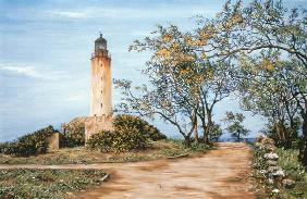 Collector, Victor  : Lighthouse (oil on canvas)...