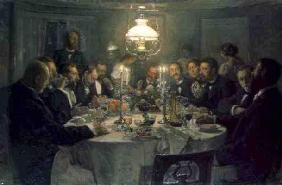 An Artist's Gathering, 1903 (oil on canvas)