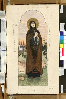 Saint Euphrosyne of Polatsk (Study for frescos in the St Vladimir's Cathedral of Kiev)