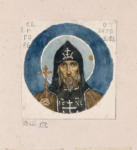 Holy Prince Igor of Chernigov (Study for frescos in the St Vladimir's Cathedral of Kiev)