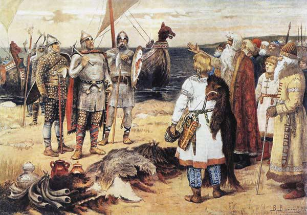 The Invitation of the Varangians: Rurik and his brothers arrive in Staraya Ladoga