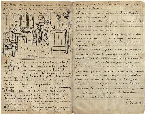 The bedroom, Letter to Paul Gauguin from Arles, Wednesday, 17 October 1888