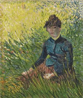 Woman in a wheat field (Femme dans un champ de blé)