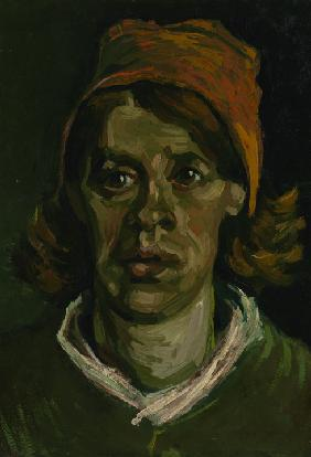 Head of a Peasant woman with red hood