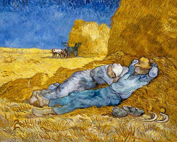 Vincent Van Gogh - Medio día , o  La Siesta (de Millet)